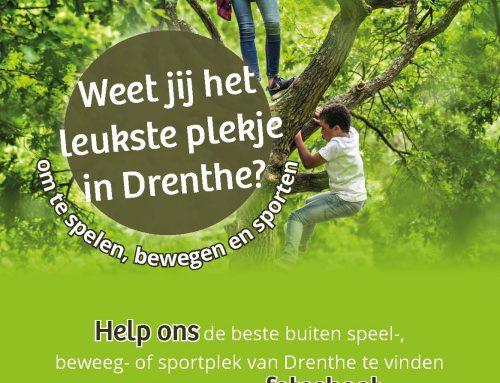 Wat is de leukste plek in Drenthe om buiten te spelen, sporten of bewegen?