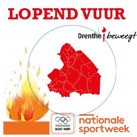 Lopend vuur door Drenthe in Nationale Sportweek